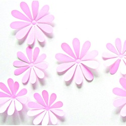 Trendy autocolant - Flori roz Selena - 1 pachet conține 12 bucăți