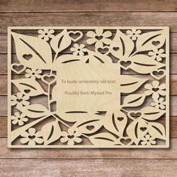 Masă din lemn cu text propriu - până la 60 x 80 cm