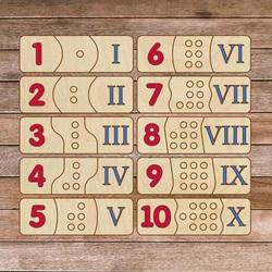 Puzzle pentru copii din lemn - cifre romane 30 de piese | SENTOP H003