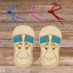 Montessori pantof din lemn pentru copii - Legați-mă! 1 buc | SENTOP
