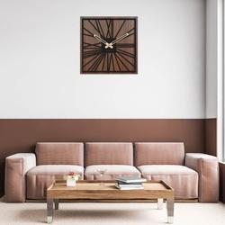 Dřevěné hodiny na zeď - Sentop   HDFK031   ořech wenge
