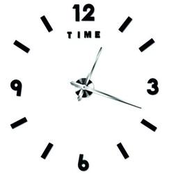 Moderné nástenné hodiny alitek . Nálepka na stenu farba čierna .