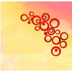 HOME Dekoration, Wandaufkleber - rote Kreise cm 4x13.6, 4x11, 4x9, 4x5,5, 4x4, 4x kleine Punkte