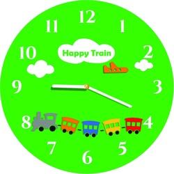 Ceasuri de perete pentru copii verzi, culori jucăușe. Dimensiuni 30 x30 cm