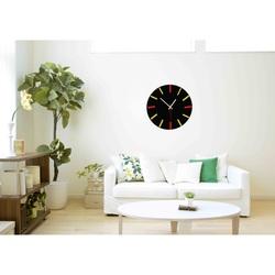 Ceas colorat pe perete - culoare LANDEN-: negru, roșu, galben
