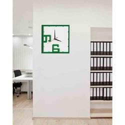 3D Ceas de perete - GREEN verde: verde inchis, verde, alb