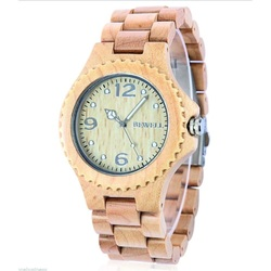 Ceas de mână elegantă din lemn INGA