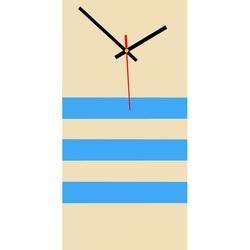 Elegant ceas de perete 3D NATZ, culoare: cafea albă, albastru deschis