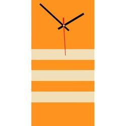 Elegant ceas de perete 3D NATZ, culoare: portocaliu, cafea albă