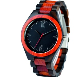 Ceas de mână din lemn - Două numere