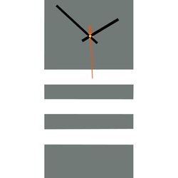 Elegant ceas de perete 3D NATZ, culoare: gri, alb