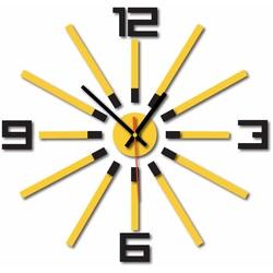 3D color clock WARRAS, color: black, yellow