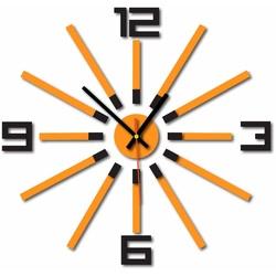 Nástenné hodiny do kuchyne farba:čierna, oranžová  EMOGUI