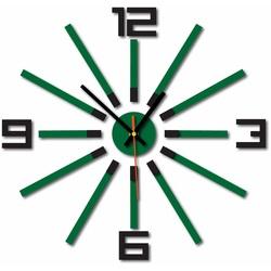 Ceas de perete la camera de zi culoare: negru închis verde AMADEUS