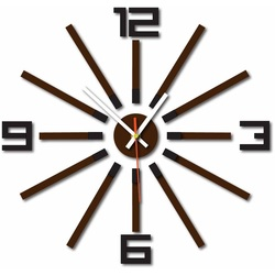 3D ceas color WARRAS, culoare: negru, maro inchis