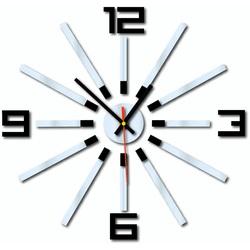 3D ceas de perete colorat WARRAS, culoare: negru, oglindă