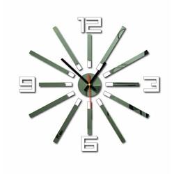 3D culoare ceas de perete WARRAS, culoare: alb, oglindă