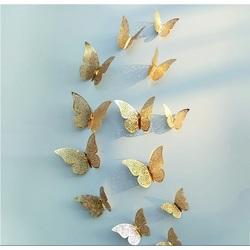 Etichetă autocolantă pe perete - fluture, 1 set - 12 buc