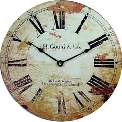 Štýlové Hodiny z dreva retro rímske MDF . Fi 30 cm