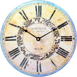 Design hodiny z dreva hotel grand MDF . Fi 30 cm