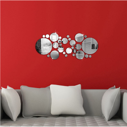 Oglindă cercurile decor DIY. 600x400x3 mm
