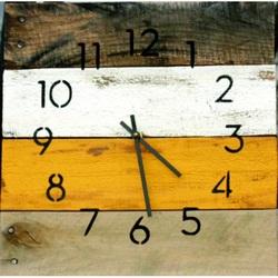 Drevené hodiny na stenu vstávaj už je ráno .