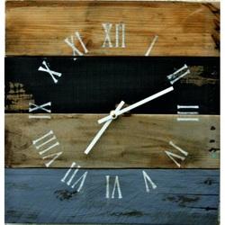 Drevené hodiny rustikálne na stenu .