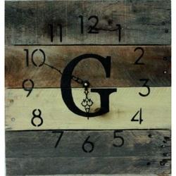 Monogram hodiny z dreva paleta .