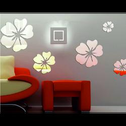 Dimensiune autocolant floare: un set este format din 25 de frunze (5 bucăți de flori) fi: 24 cm, 18 cm, 14 cm, 12 cm, 10 cm