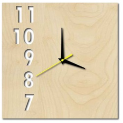 Modern Wall Clock - Four Numbers