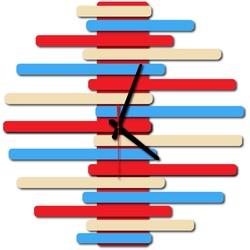 Moderne Wanduhr-JUNONA, Farbe: RAL1015-RAL5015-RAL3000
