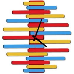 Ceas de perete modern - JUNONA, culoare:RAL1028-RAL5015-RAL3000