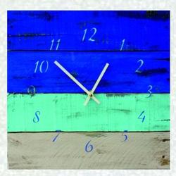 Drevené hodiny modrá oáza u vás doma .