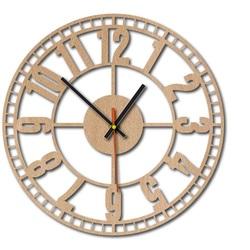 Ceas de perete din lemn - Mașină timp