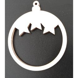Ornamente din lemn pentru Sărbători de Crăciun, Dimensiuni: 68x80 mm