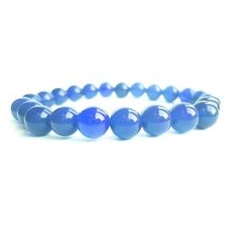Náramok na ruku - Ónyx modrý - FI 8 mm