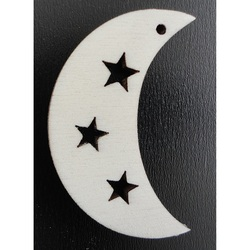 Ornaments for Christmas tree - Moon, height: 58mm