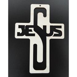 Decoratie decorativa din lemn - Isus, dimensiune: 260x187 mm