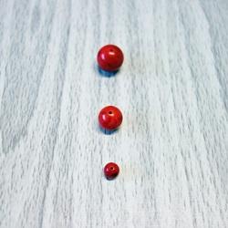 Roșu alb - minerale cu bile - FI 6 mm