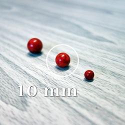 Roșu alb - minerale cu bile - FI 10 mm