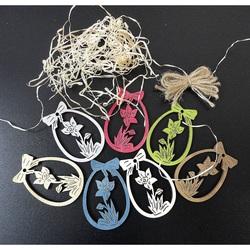 Ornamente din lemn pentru Paște, 1 set-7 bucăți