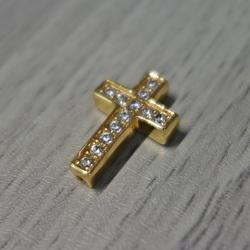 Metal cruce cu zirconi - aur