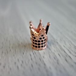 Coroana metalica cu zirconi negri - cupru
