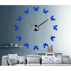 Ceas de perete din plastic modern - Fluture
