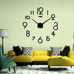 Moderné nástenné hodiny jastrab . Farba čierna , nálepka na stenu .