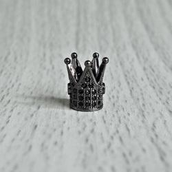 Coroana metalica cu zirconi negri - negru