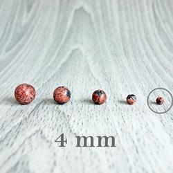 Jasper Leopard - Perlenmineral - FI 4 mm