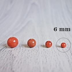 Aur aventurin (piatră însorită) - minerale cu bile - FI 6 mm