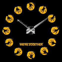 Ceas de perete modern, autoadeziv - STAR