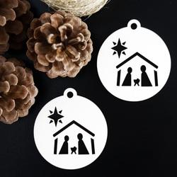 Ornament ornament pentru pomul de Crăciun - Betleem, dimensiune: 79x90 mm